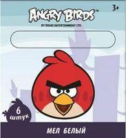 """Мел белый """"Angry birds"""" (6 штук)"""