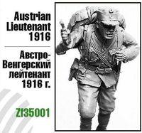 """Миниатюра """"Австро-Венгерский лейтенант 1916г."""" (масштаб: 1/35)"""