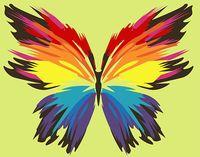 """Картина по номерам """"Бабочка-многоцветница (165х130 мм)"""
