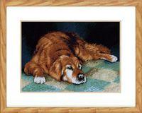 "Вышивка крестом ""Спящая собака"" (340х240 мм)"