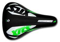 """Седло для велосипеда """"1212A XRS"""" (чёрно-бело-зелёное)"""