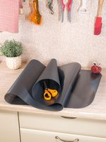 Коврик для сушки посуды (50х150 см; дымчато-прозрачный)