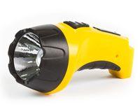Аккумуляторный светодиодный фонарь 1 LED с прямой зарядкой (желтый)