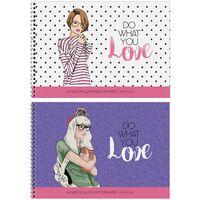 """Альбом для рисования """"Do What You Love"""" (А4; 40 листов; в ассортименте)"""