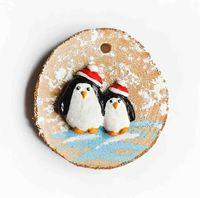 """Ёлочная игрушка """"Пингвины"""" (арт. ЕД-1)"""