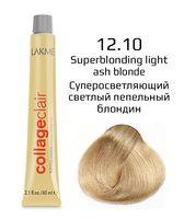 """Крем-краска для волос """"CollageClair Superblonding Color Creme"""" (тон: 12/10, суперосветляющий светлый пепельный блондин)"""