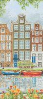 "Вышивка крестом ""Улица Амстердама"" (320х140 мм)"