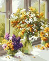 """Картина по номерам """"Утренние букеты"""" (400х500 мм)"""