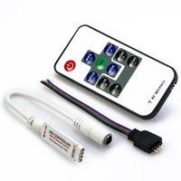 LED RGB мини-контроллер с пультом (10 кнопок)
