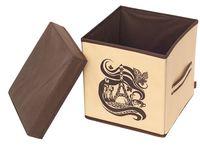 """Коробка для хранения """"Шоколадный Париж"""" (250х250х250 мм)"""