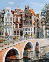 """Картина по номерам """"Императорский канал в Амстердаме"""" (400х500 мм)"""