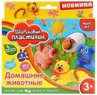 """Пластилин шариковый """"Домашние животные"""" (8 цветов)"""
