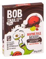 "Мармелад ""Bob Snail. Яблоко-вишня в бельгийском черном шоколаде"" (54 г)"