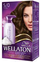 "Краска-мусс для волос ""Wellaton"" (тон: 5/0, темный дуб)"