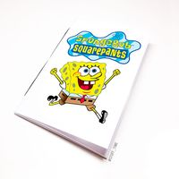 "Блокнот белый ""Sponge Bob"" А6 (090)"