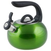 Чайник металлический со свистком (2,7 л; зеленый металлик)
