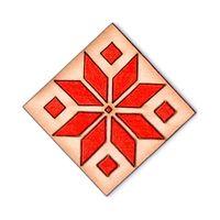 """Значок деревянный """"Белорусский узор"""""""