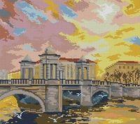 "Алмазная вышивка-мозаика ""Мост"" (420х550 мм)"