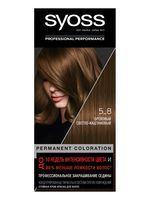 """Крем-краска для волос """"Syoss"""" тон: 5-8, ореховый светло-каштановый"""