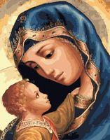 """Картина по номерам """"Дева Мария и Иисус"""" (400х500 мм)"""