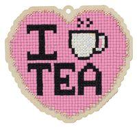 "Алмазная вышивка-мозаика ""Брелок. Люблю чай"" (108х100 мм)"