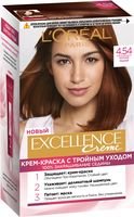 """Крем-краска для волос """"Excellence Creme"""" тон: 4.54, богатый медный"""