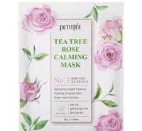 """Тканевая маска для лица """"Успокаивающая. С чайным деревом и розой"""" (25 г)"""