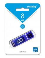 USB Flash Drive 8Gb SmartBuy Glossy series (Dark Blue)