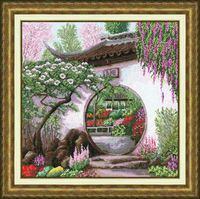 """Вышивка крестом """"Весна в Японии"""" (384х384 мм)"""
