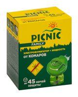"""Электрофумигатор с жидкостью от комаров """"Picnic Family. 45 ночей"""""""