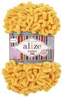 """Пряжа """"ALIZE. Puffy Fine №82"""" (100 г; 14 м; желтый)"""