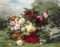 """Картина по номерам """"Розы и ягодная корзина"""" (400х500 мм)"""