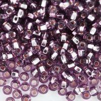Бисер прозрачный с серебристым центром №27010 (светло-сиреневый; 10/0)