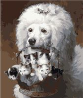 """Картина по номерам """"Королевский пудель"""" (400х500 мм; цветной холст)"""
