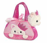 """Мягкая игрушка """"Котик. Принцесса в сумочке"""" (16 см)"""