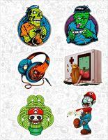 "Набор виниловых наклеек №69 ""Zombie Gamer"""