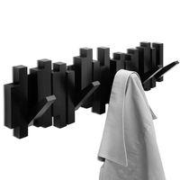 "Вешалка настенная ""Sticks"" (5 крючков; 493х180х30 мм; черная)"