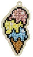 """Алмазная вышивка-мозаика """"Брелок. Сладкий рожок"""" (52х99 мм)"""