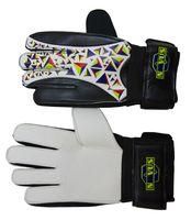 Перчатки вратарские NOVUS NFG-01 (р. L; черно-белые)