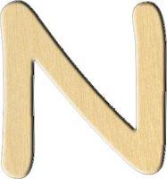 """Заготовка деревянная """"Английский алфавит. Буква N"""" (28х30 мм)"""