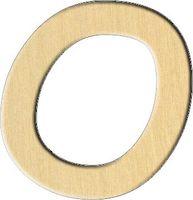 """Заготовка деревянная """"Английский алфавит. Буква O"""" (29х30 мм)"""