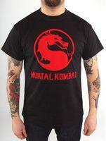 """Футболка """"Mortal Kombat - Classic Logo""""  (размер - L)"""