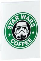 """Блокнот белый """"Звездные войны. Кофе"""" А7 (арт. 005)"""