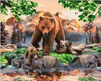 """Картина по номерам """"Первое купание"""" (400х500 мм; цветной холст)"""