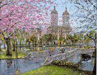 """Картина по номерам """"В городском парке"""" (400х500 мм)"""