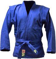 Куртка для самбо JS-302 (р. 5/180; синяя)