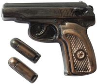 """Форма для изготовления мыла """"Пистолет Макаров с пулями"""""""