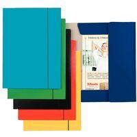 """Папка А4 картонная на резинках """"Esselte"""" (темно-синяя)"""