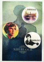 """Набор значков маленьких """"Шерлок"""" (арт. 369)"""