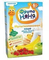 """Детская каша ФрутоНяня """"Молочная мультизлаковая с яблоком, бананом и земляникой"""" (200 г)"""